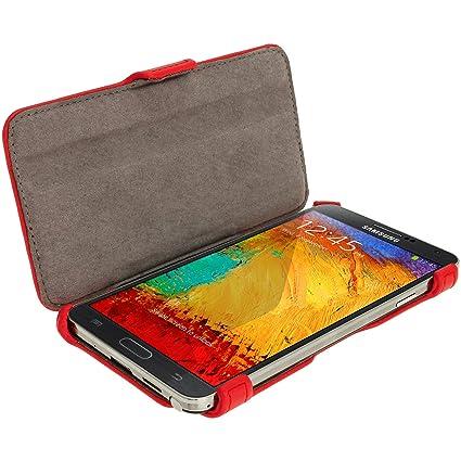 iGadgitz U2623 Eco- Piel Case - Funda Cover Carcasa Para Samsung Galaxy Note 3 III Tablet y Protector de Pantalla (No Apto Para Samsung Galaxy Note ...