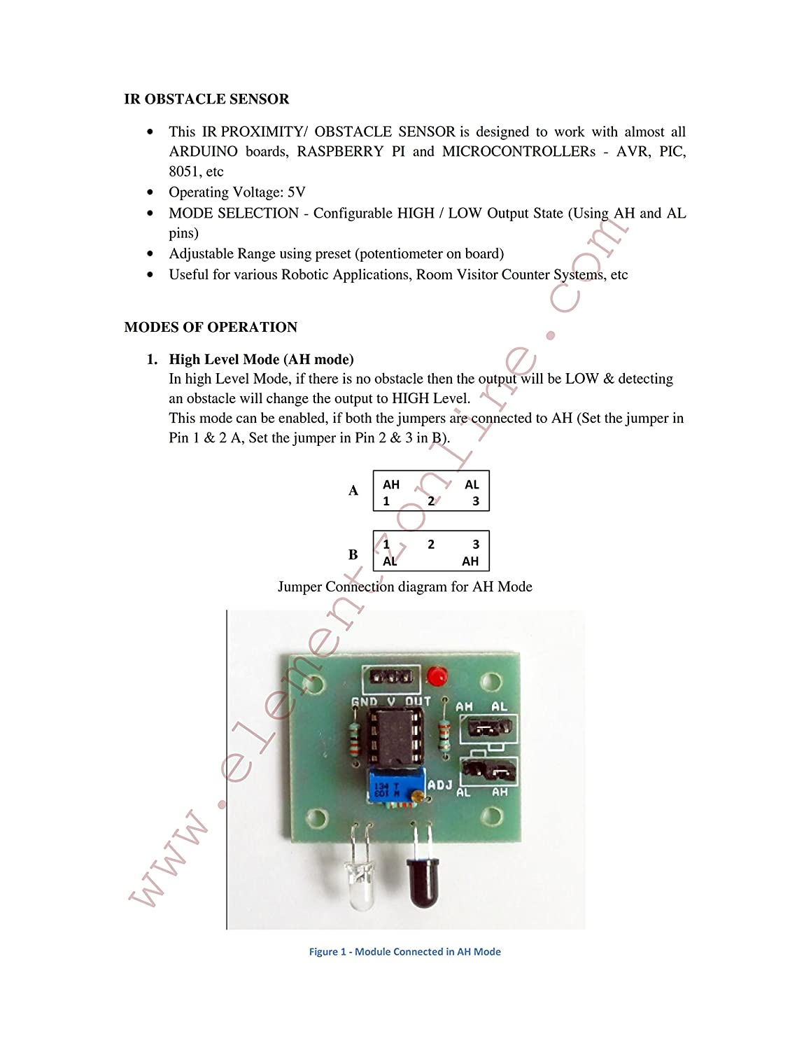 Elementz Engineers Guild Pvt Ltd Ir Obstacle Sensor Module Looking 4 Simple Circuit For Detection Infrared Proximity Detector With High Low Output Mode Selection