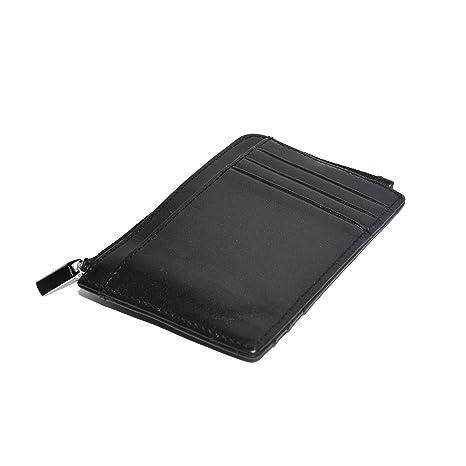 a03b945918 Portamonete RFID sottile di Nomalite   Portafoglio slim per uomo e donna,  in pelle / cuoio nero vegan.