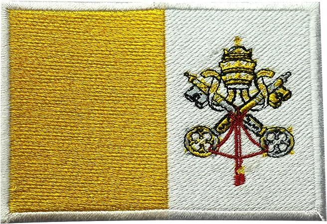 Parche bordado para coser o planchar, diseño de bandera nacional de la Ciudad del Vaticano: Amazon.es: Hogar