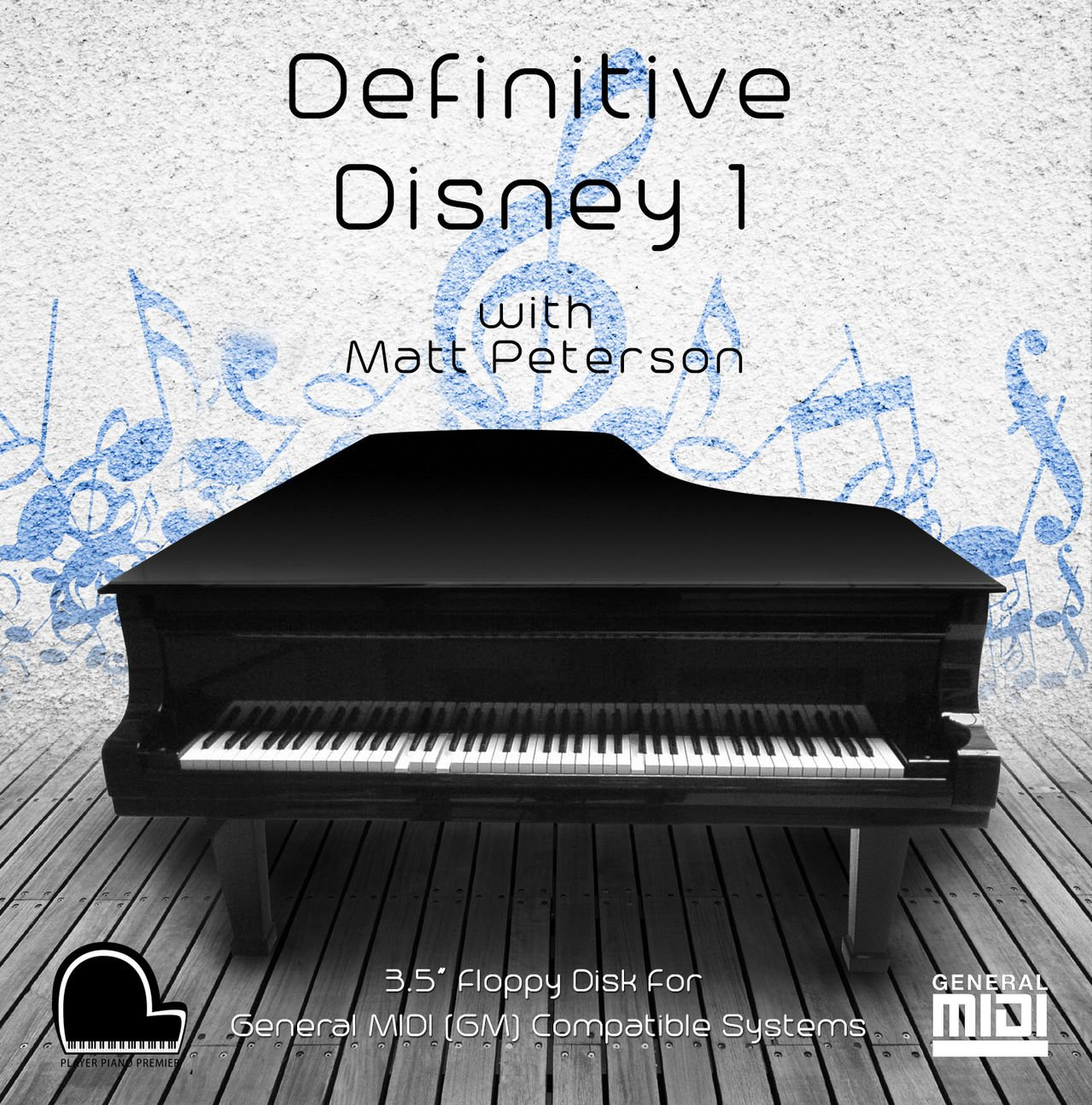 Definitive Disney 1 - PianoDisc Compatible Player Piano Music on 3 5