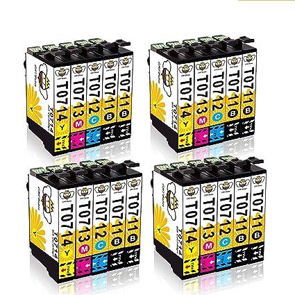 T0711 T0712 Cartuchos de Tinta CMYBabee de Reemplazo para T0713 ...
