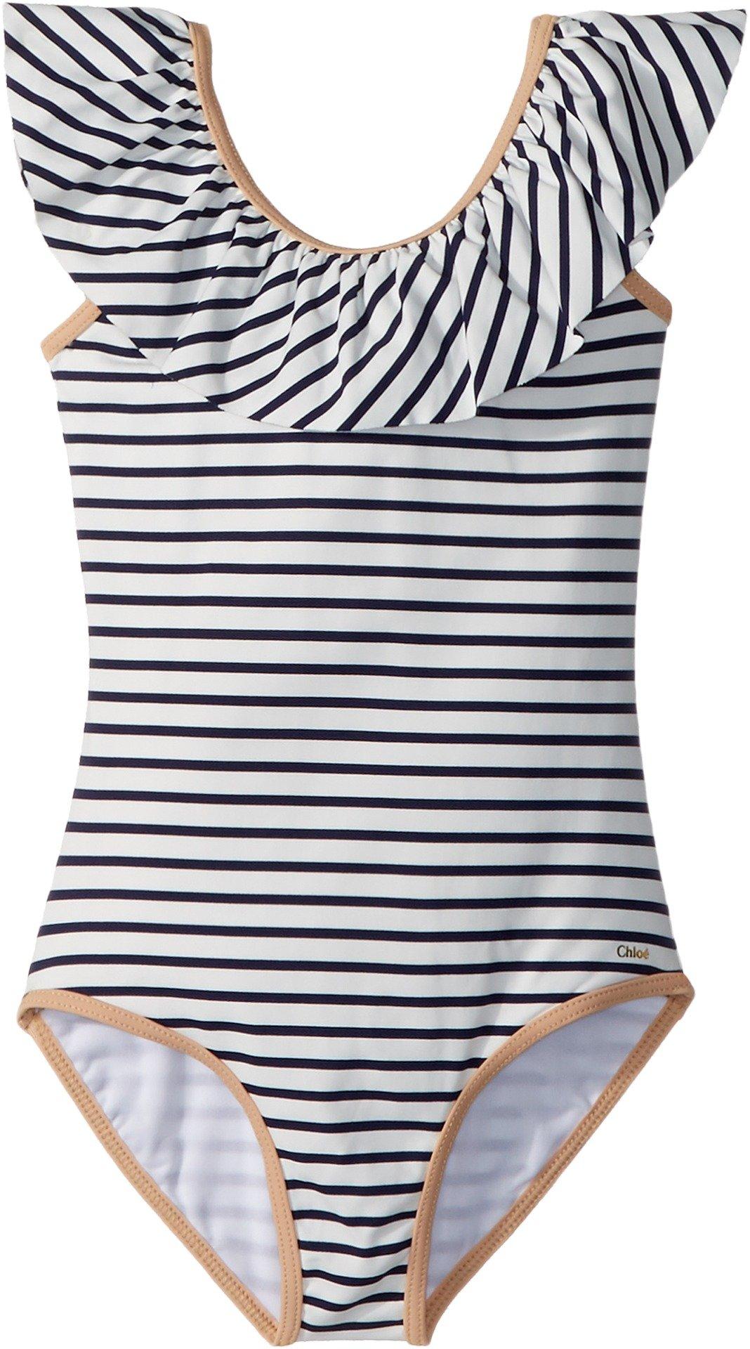 Chloe Kids Girl's Striped One-Piece Swimsuit (Little Kids/Big Kids) Caban 8