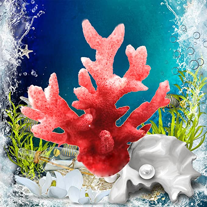 Luwu-Store - Decoración artificial realista para acuarios, coral de resina: Amazon.es: Productos para mascotas