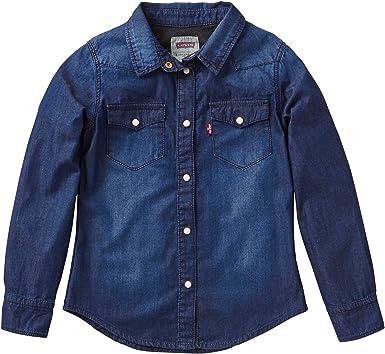 Levis -LS Shirt ABBY2 -Camisa Vaquera NIÑA: Amazon.es: Ropa y accesorios