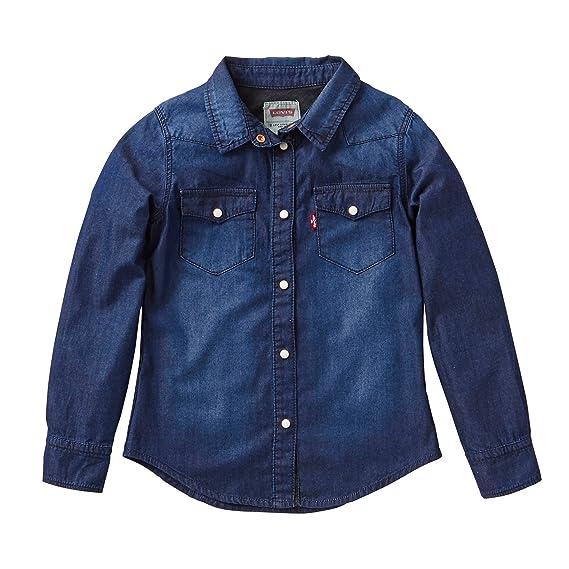 Levis -LS Shirt ABBY2 -Camisa Vaquera NIÑA: Amazon.es: Ropa y ...