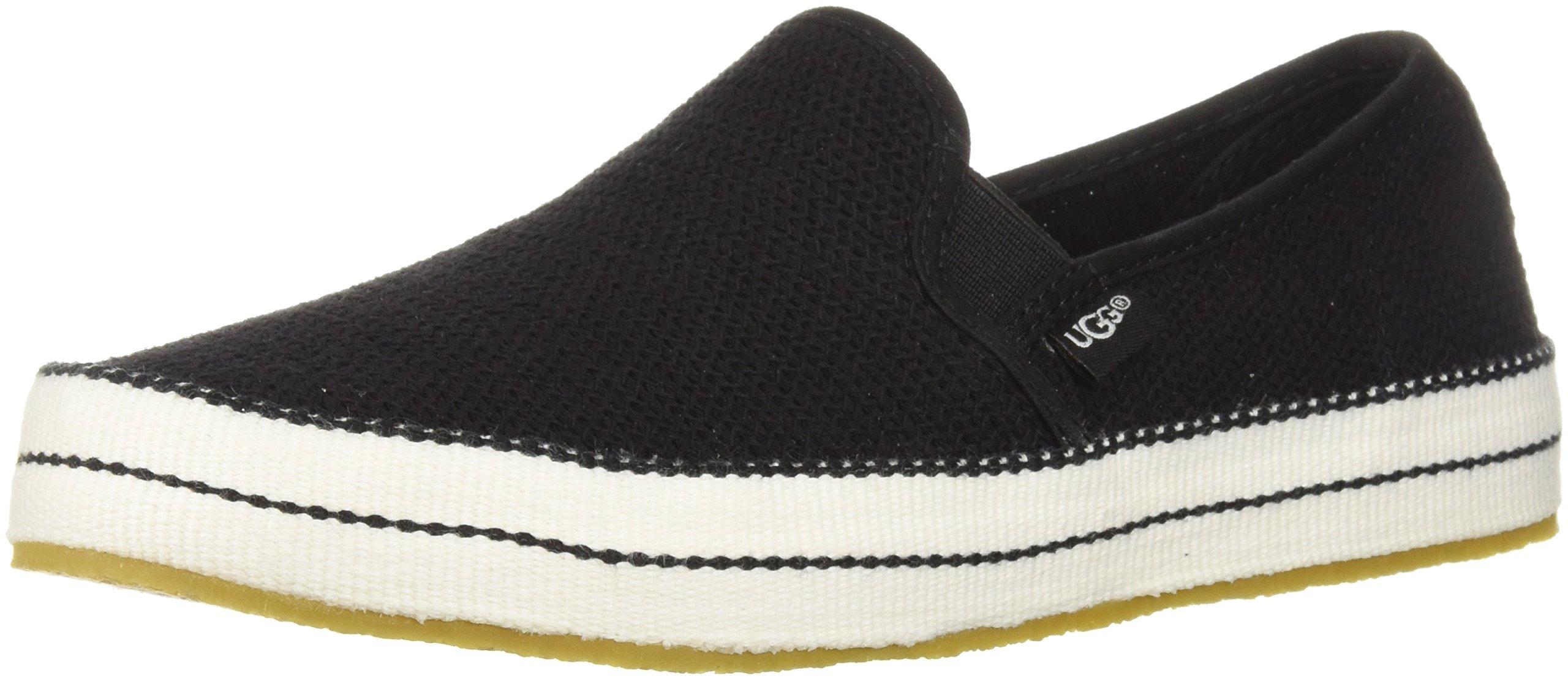 UGG Women's Bren Sneaker, black, 5 M US