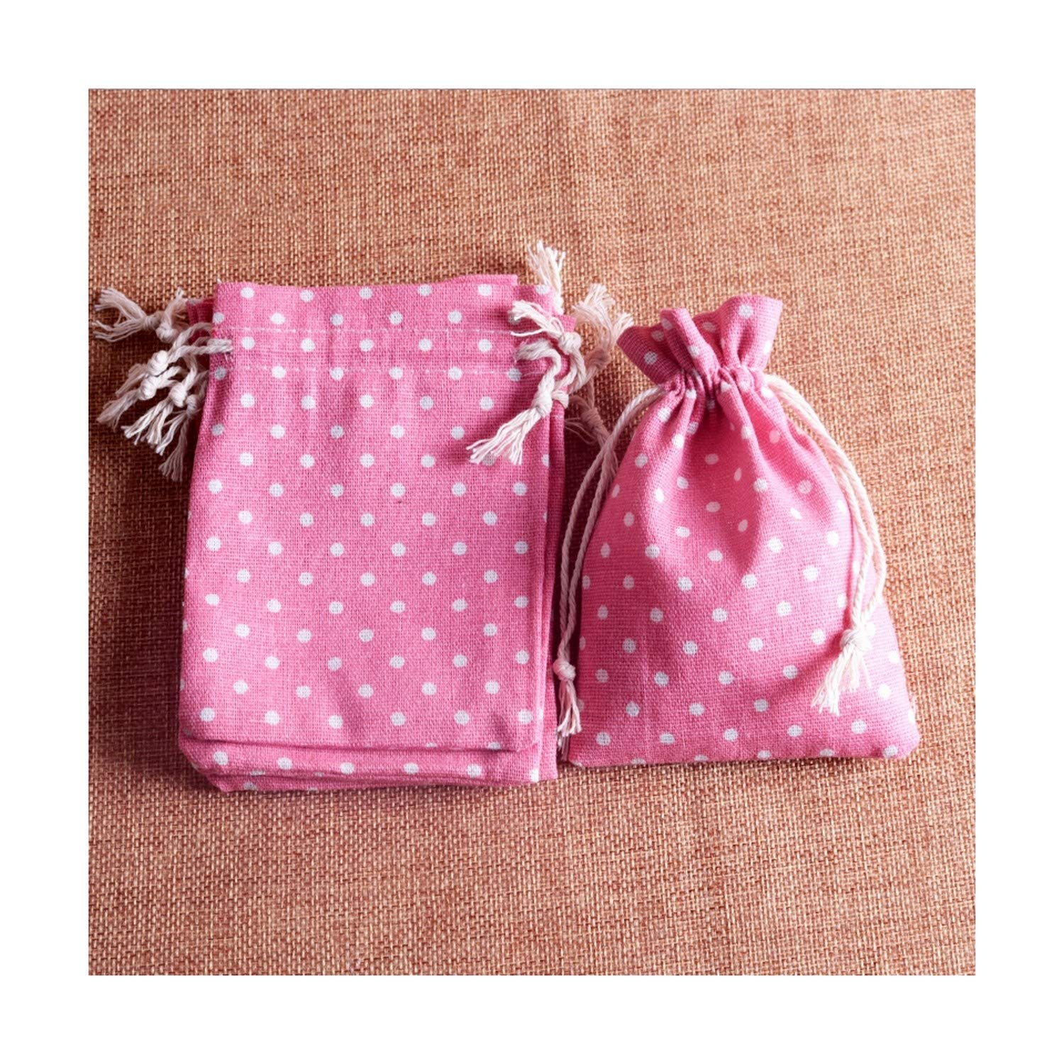 100pcs/lot Pink Cotton Gift Bags 10x14cm(3.9''x5.5'') Party Wedding Favor Bag Candy Gifts Packaging Bag Pouches