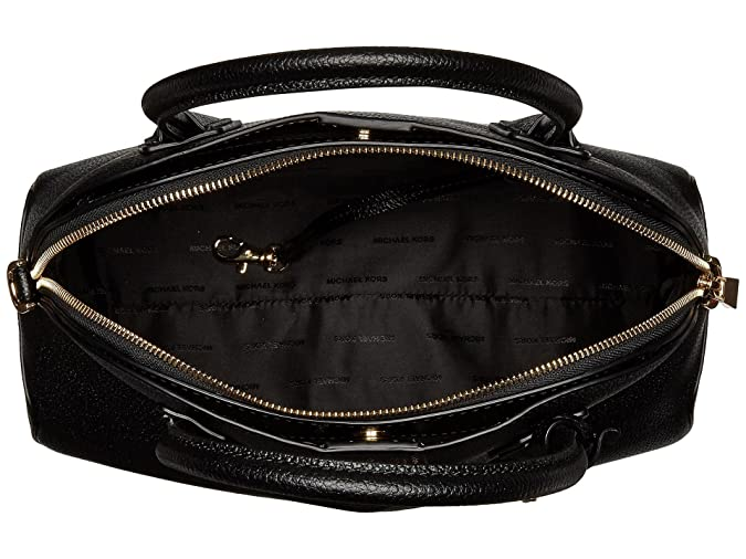 392ab2402ee3 Amazon.com: Michael Michael Kors Mercer Large Leather Dome Satchel, Black:  Shoes