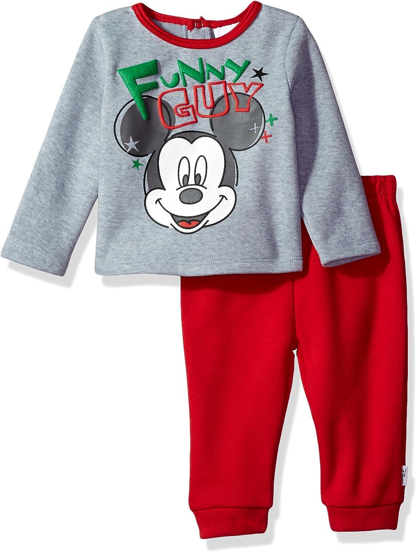 Disney Mickey Mouse Baby Boys 2 Pack Sleep N Play Fleece Zip-Up Gray