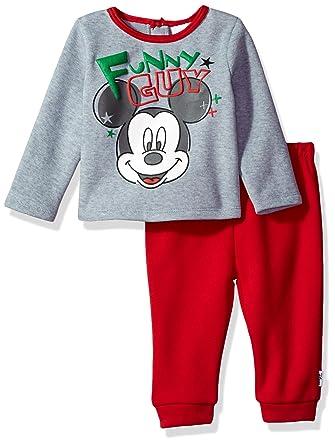 d77a98d6a Amazon.com  Disney Baby Boys  Mickey Mouse 2-Piece Fleece Set  Clothing
