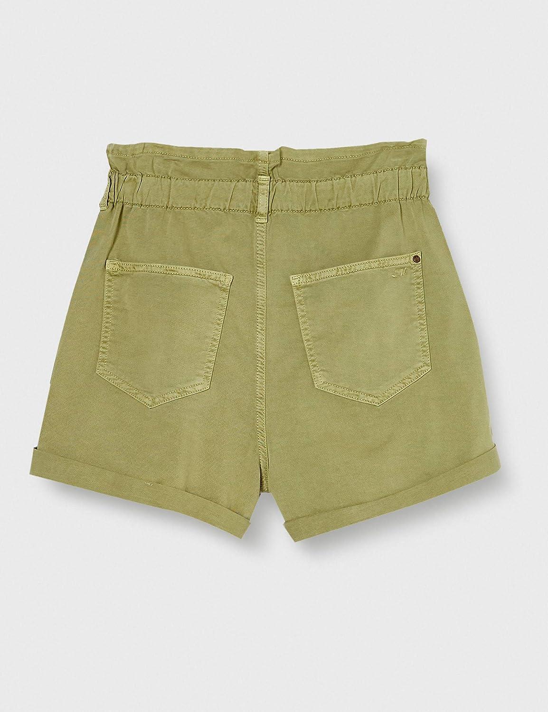 Mavi Women's Taylor Shorts Green Washed Down Str