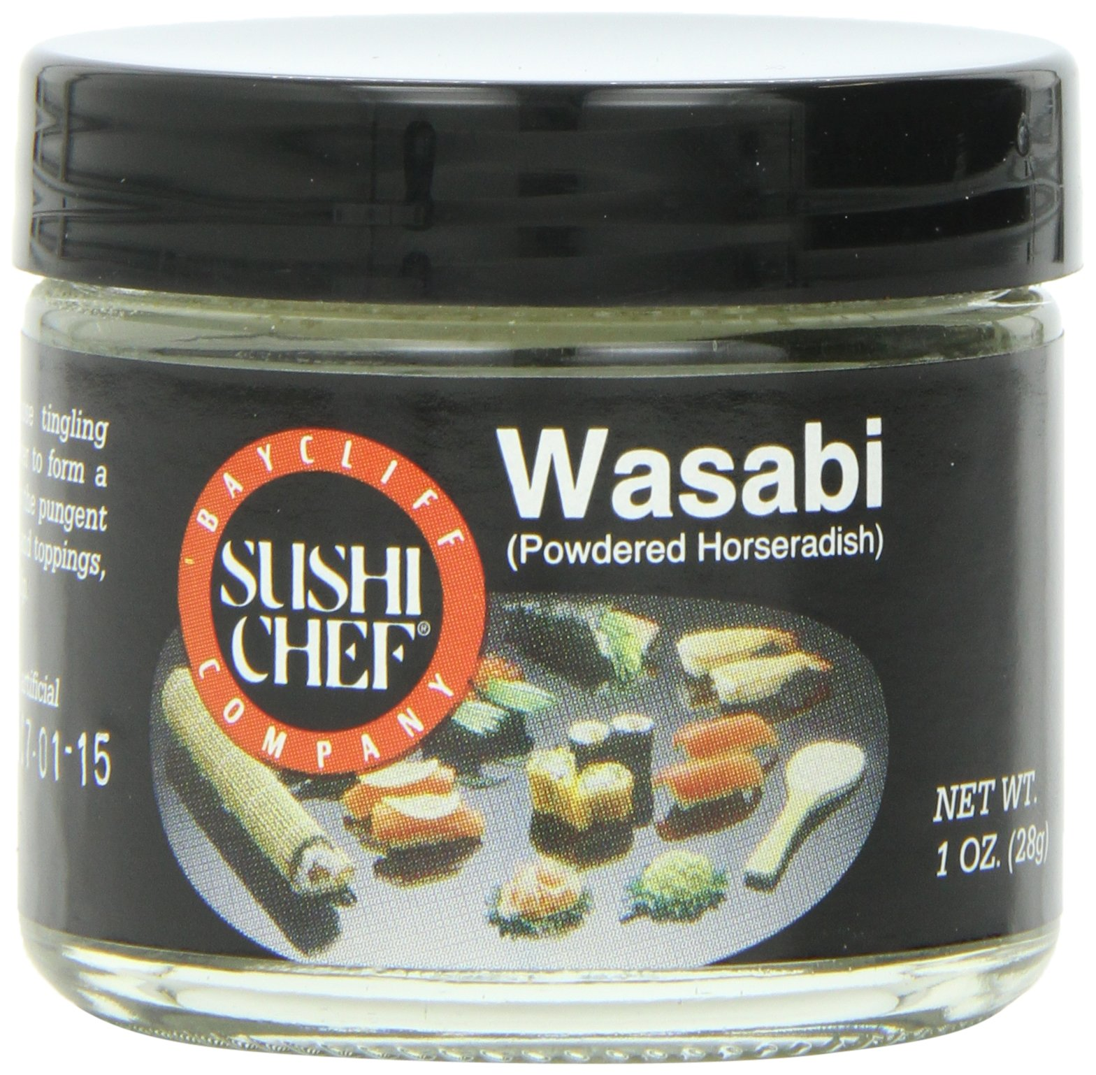 Sushi Chef Wasabi (Powdered Green Horseradish), 1-Ounce Glass Jars (Pack of 6)