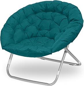 Urban Shop Oversized Saucer Chair, teal