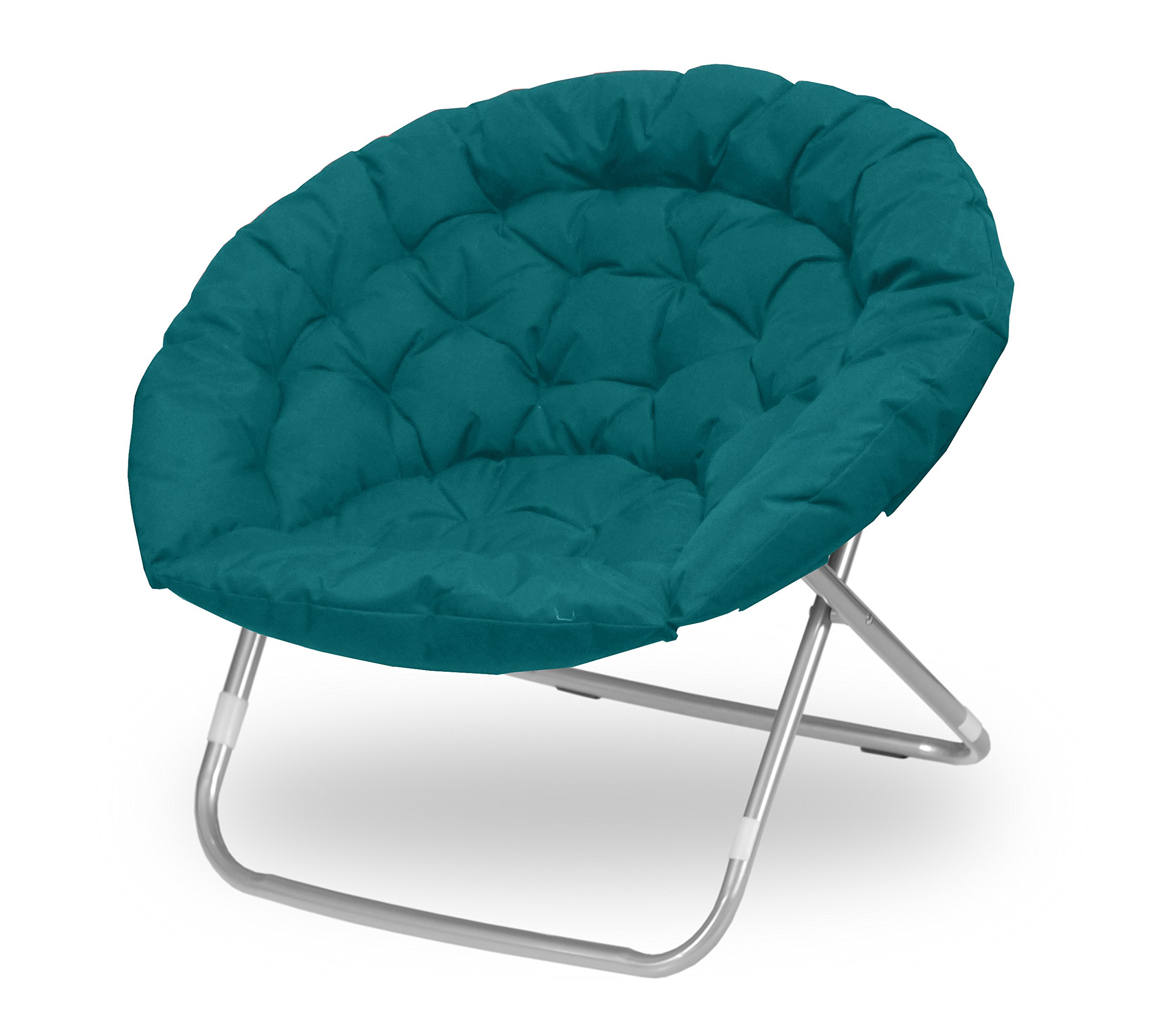 Urban Shop Oversized Saucer Chair, teal by Urban Shop