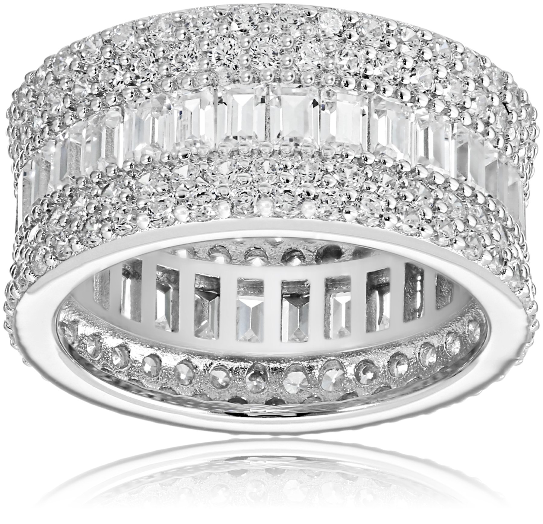 Charles Winston, Sterling Silver, Cubic Zirconia Baguette & Round Band, 5.60 ct. tw., Size 8 by Charles Winston (Image #1)