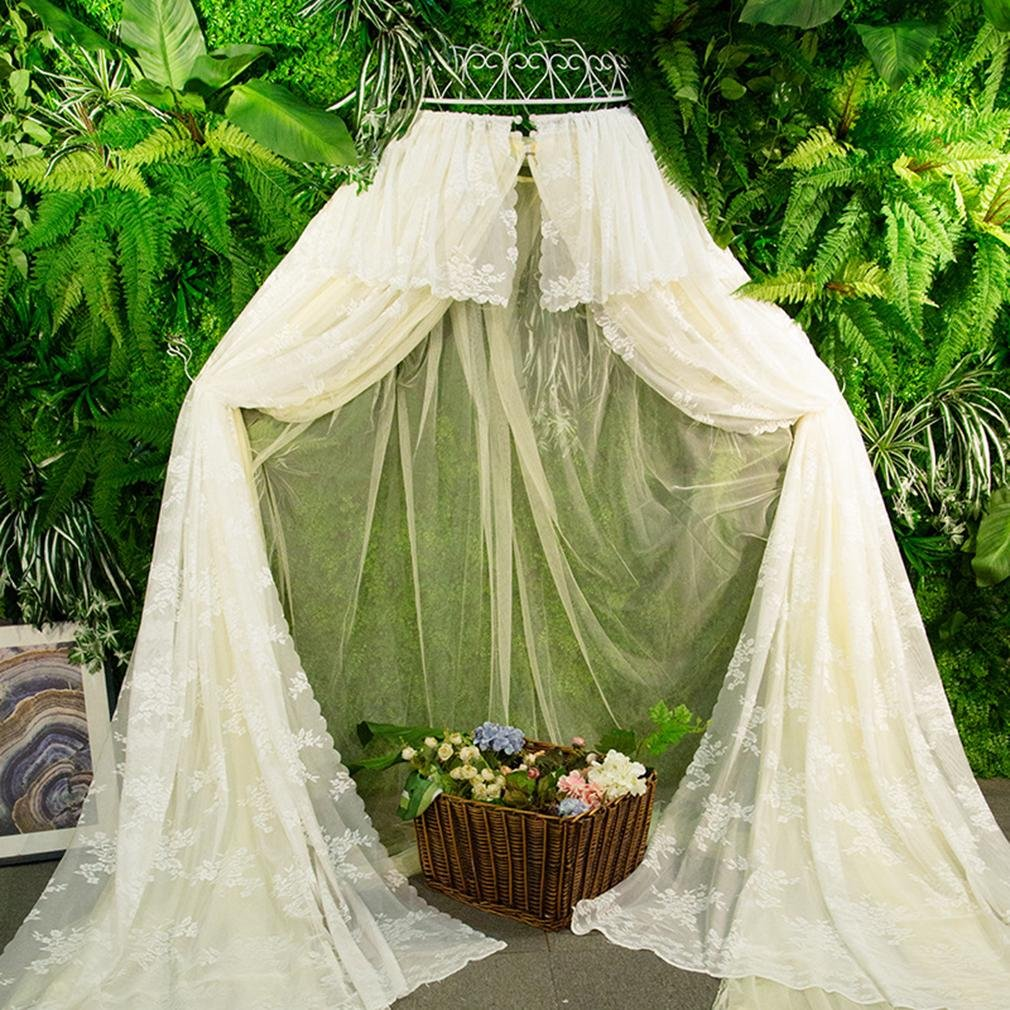 Mosquito Net Bed Canopy Tent Bedding for Kids Playing Reading with Children Round Lace Dome Netting Curtains Home Decoraction , A , 1.8m bed