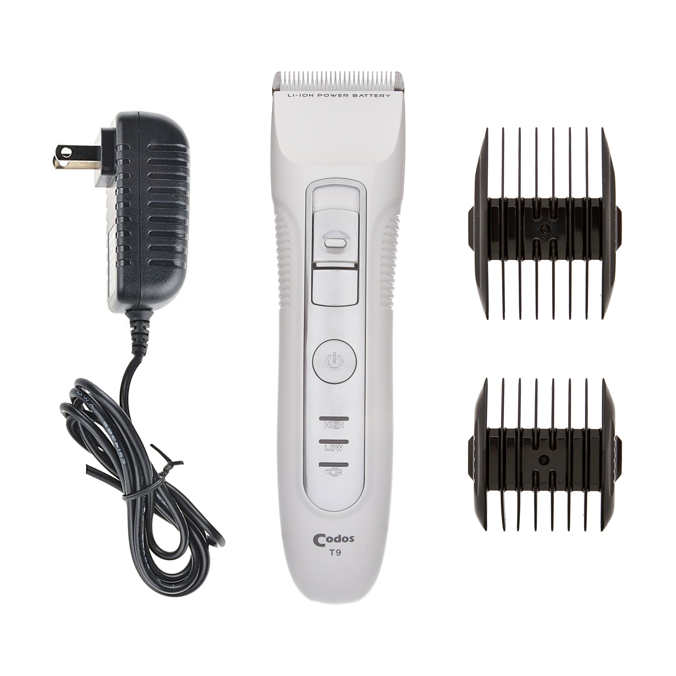 ShearsDirect Codos T9 Clipper with Lithium Battery & AC Adapter Charger, 7''