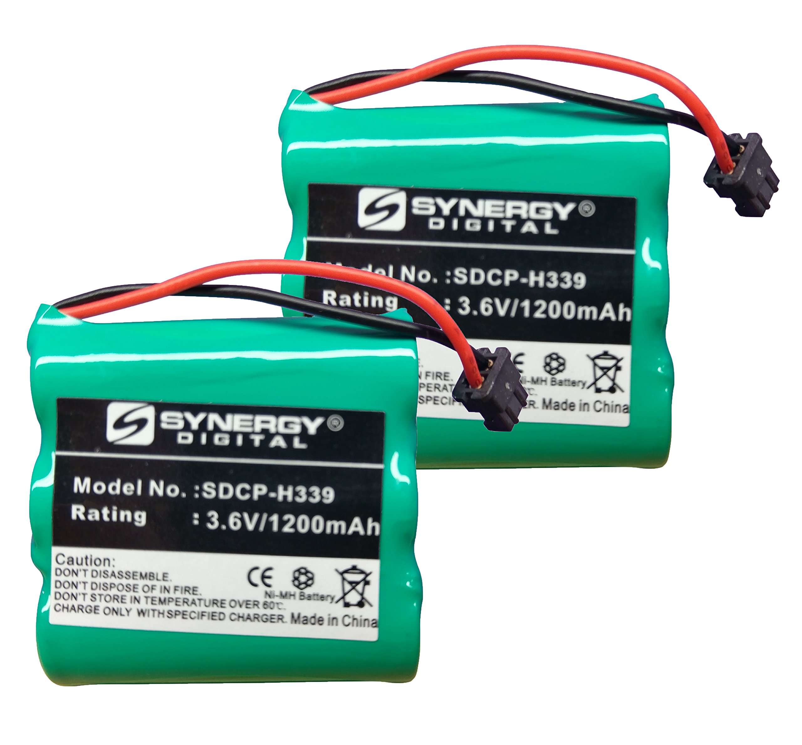 Radio Shack 23-897 Cordless Phone Battery Combo-Pack Includes: 2 x SDCP-H339 Batteries by Synergy Digital