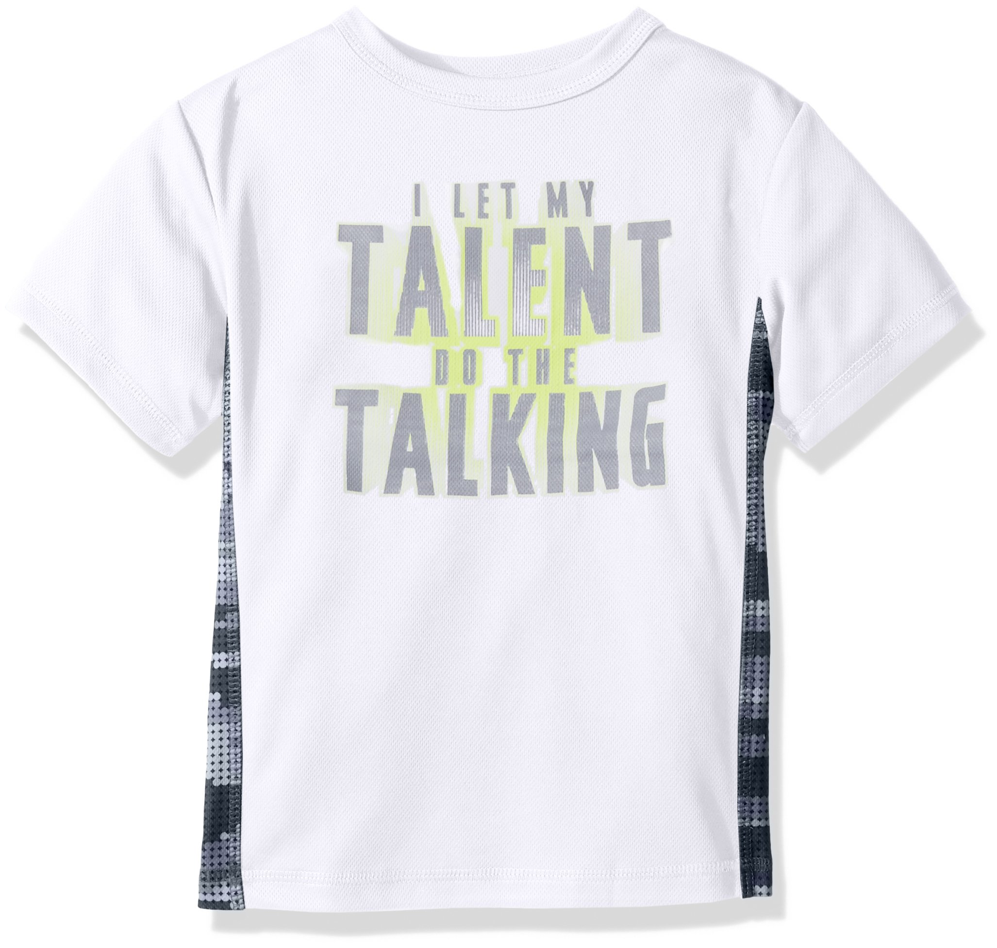 The Children's Place Big Boys' Mesh Pieced T-Shirt, White, XS (4)