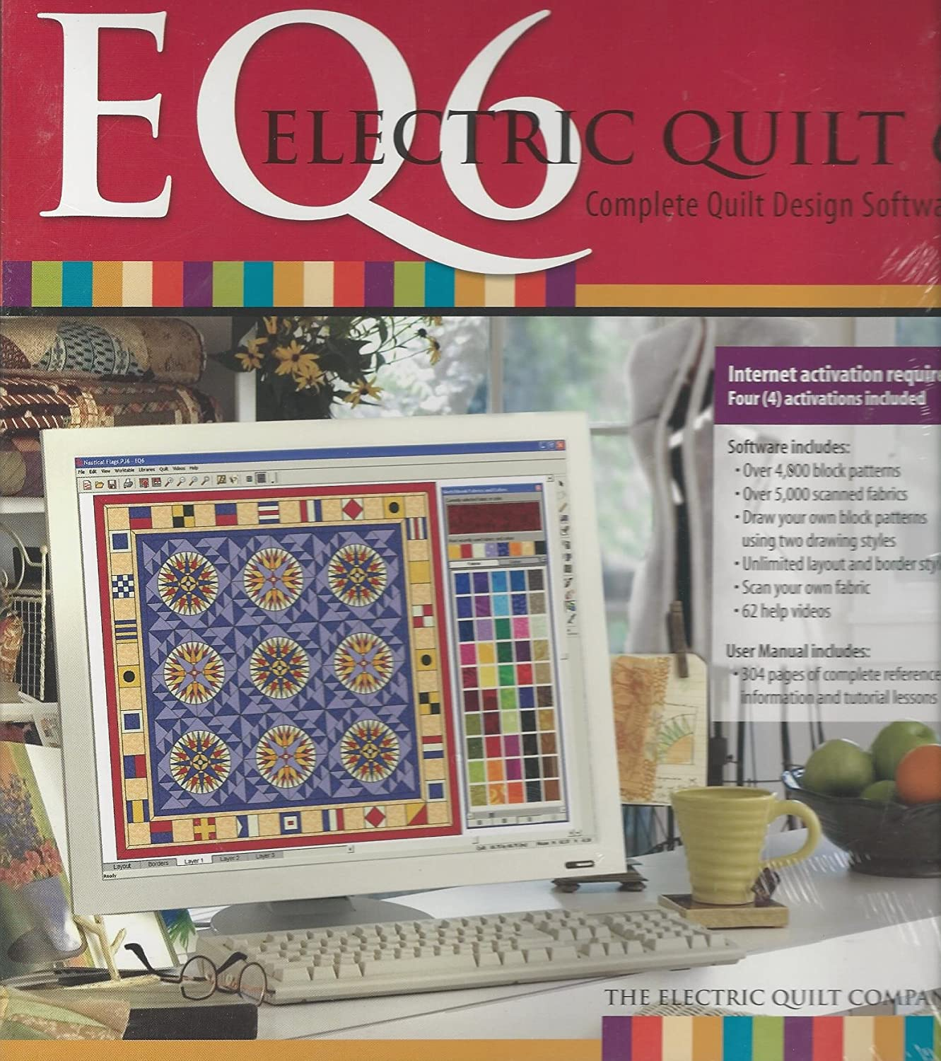Amazon Com Electric Quilt 6 Eq6 Quilt Design Software With Manual