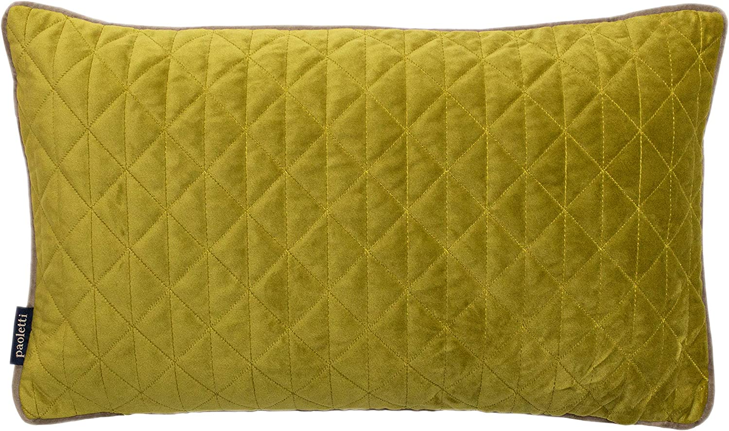 Riva Home Quartz Geometric Quilted Diamond Stitch Piped Cushion Cover