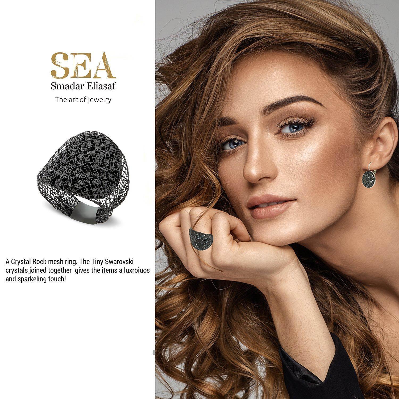 SEA Smadar Designed Blue Swarovski Crystal Sparks Ring by SEA Smadar (Image #2)
