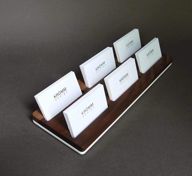 Multiple Horizontal Business Card Holder/Business Card Stand/Business Card Display, Walnut Wood Card Holder