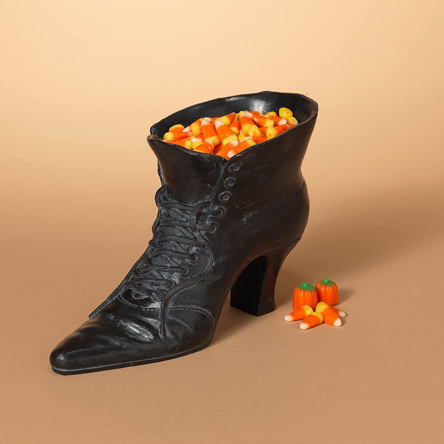 One Holiday Lane Vintage Retro Witch Boot Halloween Candy Bowl - Witch Shoe Candy Dish