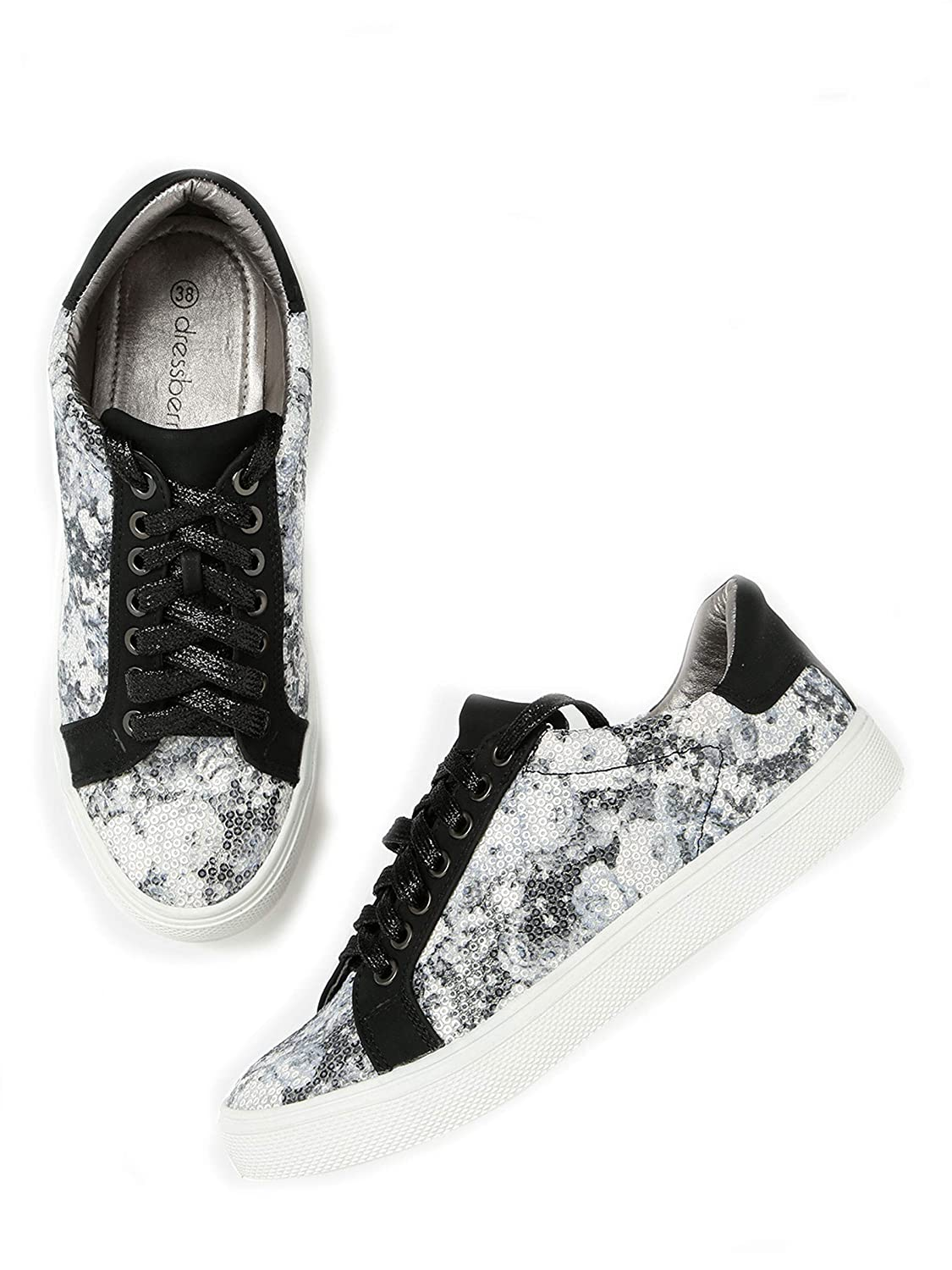 White Printed Sneakers(Size EUR 40