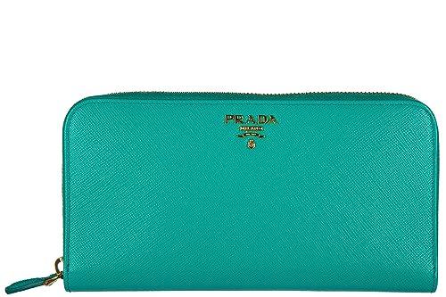 Prada monedero cartera bifold de mujer en piel nuevo saffiano metal blu: Amazon.es: Zapatos y complementos