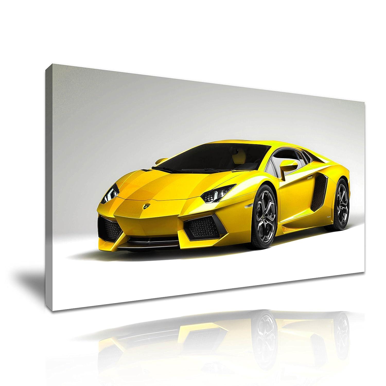 Lamborghini Super Car Canvas Wall Art Picture Print 60x30cm: Amazon ...