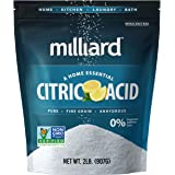 Milliard Citric Acid 2 Pound - 100% Pure Food Grade NON-GMO Project VERIFIED (2 Pound)