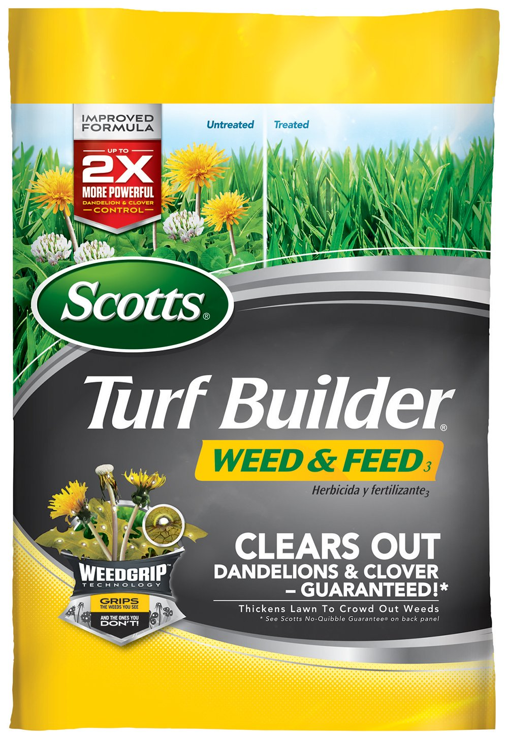 Scotts 25012 Turf Builder Weed & Feed Fertilizer (4 Pack)