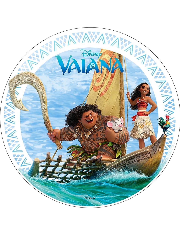 Disco de oblea Vaiana 21 cm: Amazon.es: Juguetes y juegos