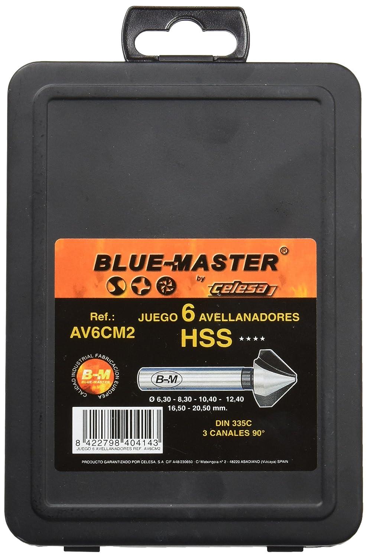 Blue-Master AV6CM2 Estuche 6 Brocas Avellanador, 6.3-20.5: Amazon ...