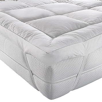 Colchoneta A&R para parte superior de colchón, microfibra, calidad de hotel,