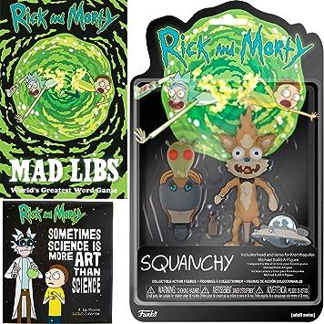 Figura de gato criatura Squanchy Action personaje Rick & Morty Crazy paquete de 3 piezas: Amazon.es: Juguetes y juegos