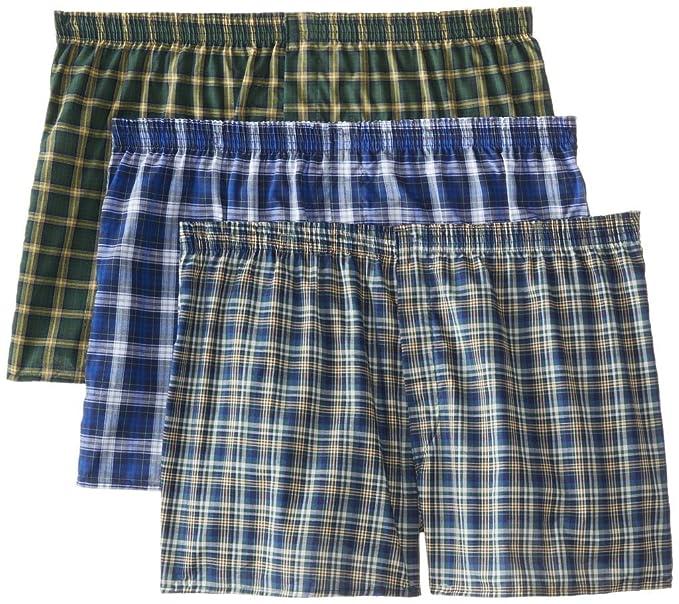 Fruit of the Loom Men s 3-Pack Plaid Boxer Shorts Boxers Underwear ... 0e51f4d566cf