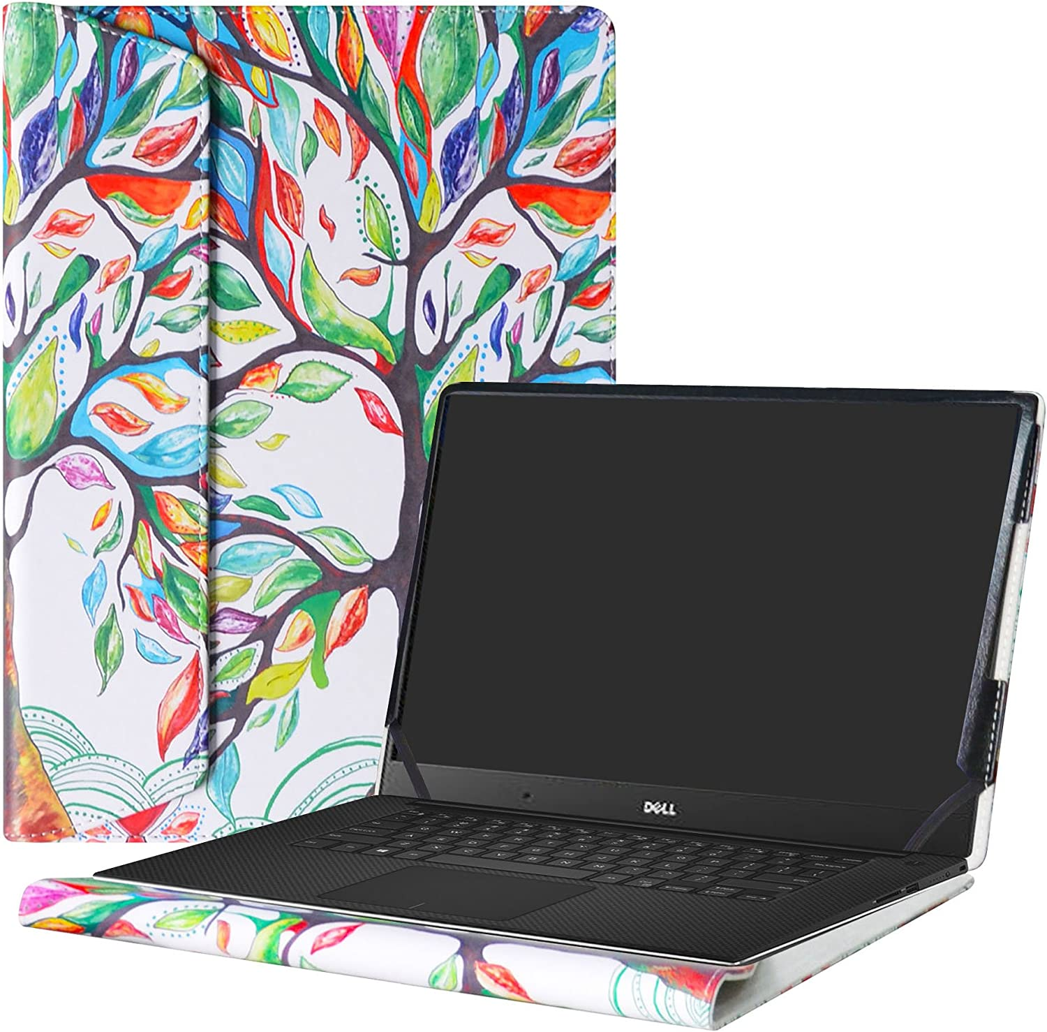 """Alapmk Protective Case Cover for 15.6"""" Dell XPS 15 9570 9560 9550/XPS 15 2 in 1 9575/Precision 2-in-1 5530/Precision 15 5530 Laptop(Note:Not fit Older xps 15 9530 L501X L502X L521X),Love Tree"""