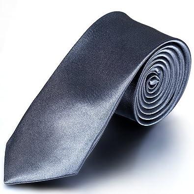 jewelrywe Hombre estrecho fina corbata corbata Binder Traje Slim ...