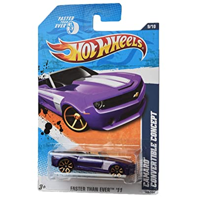 Hot Wheels 2011 Faster Than Ever 9/10 Camaro Convertible Concept 149/244, Purple: Toys & Games