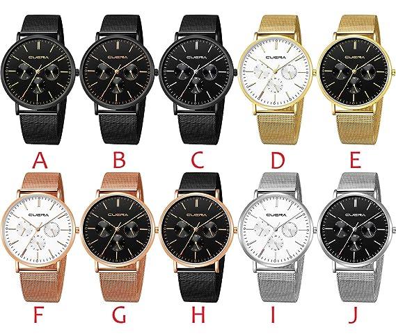 Amazon.com : freedomer Fashion Mens Watch Slim Mesh Steel Waterproof Clock Man Minimalist Business Military Watch Wrist Watches reloj Hombre(H, ...