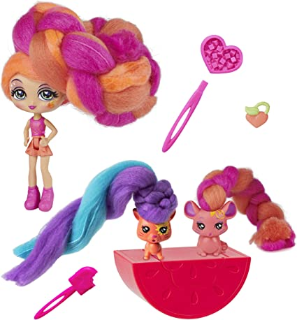Candylocks BFF 2 Pack 3-Inch Cora Crème /& Charli Chip Scented Collectible Dol...