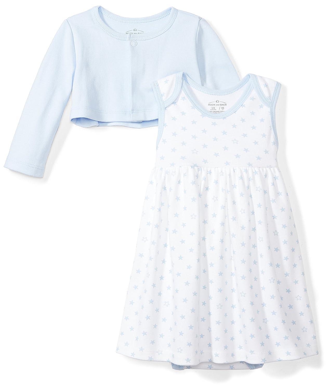 f439745296 Amazon.com  Moon and Back Baby Girls  Organic Dress and Cardigan Set   Clothing