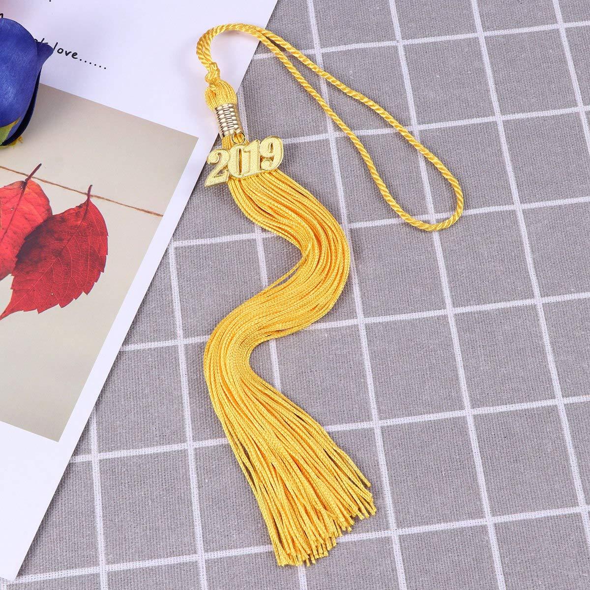 Yellow TOYANDONA Tassel 2019 Graduation Hat Number Craft Tassel Hanging Pendent for Bachelor Master Doctor Cap