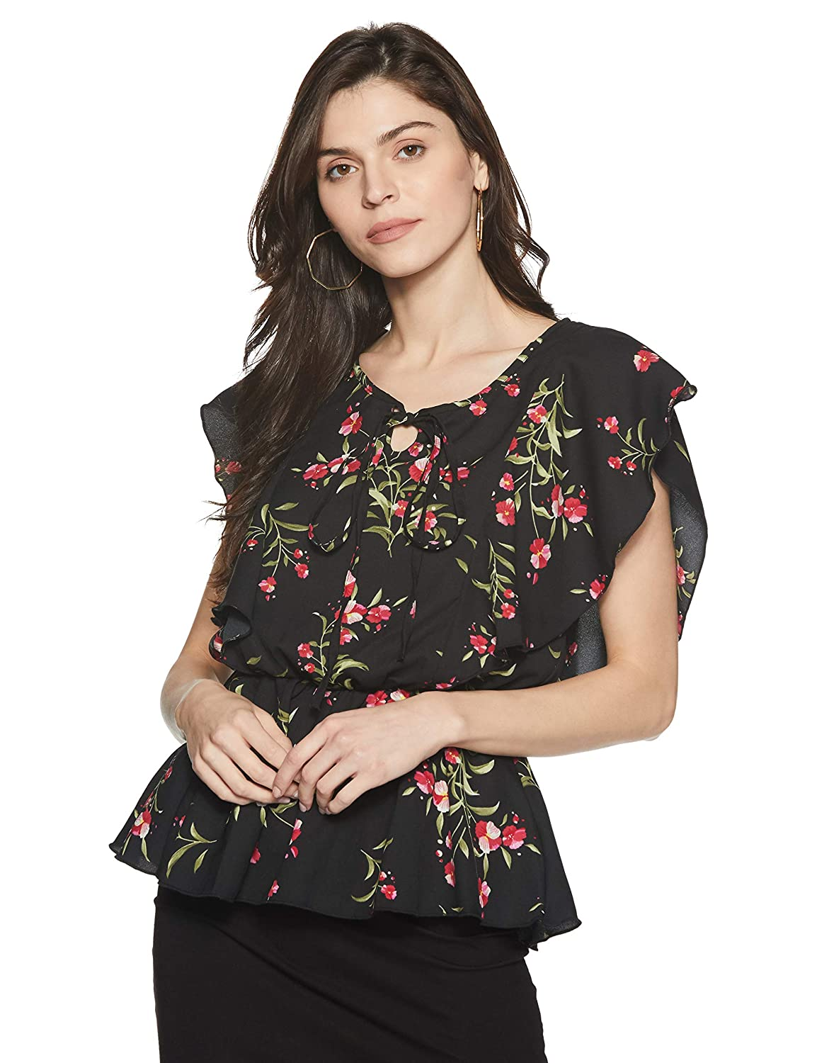 Get 50% Off on Stalk Buy Love Women's Georgette Julia Ruffle Top - Free Delivery