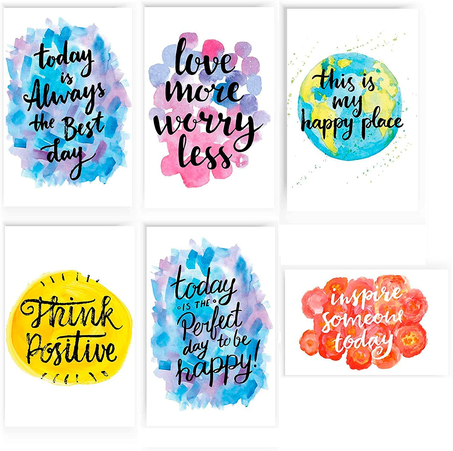 Inspirational Poster   Set of Six 11x17 Posters   Motivational Signs for Office   Decorative Wall Art for Every Day Motivation   Inspiring Artwork With Positive Quotes   Great for Classroom Decor