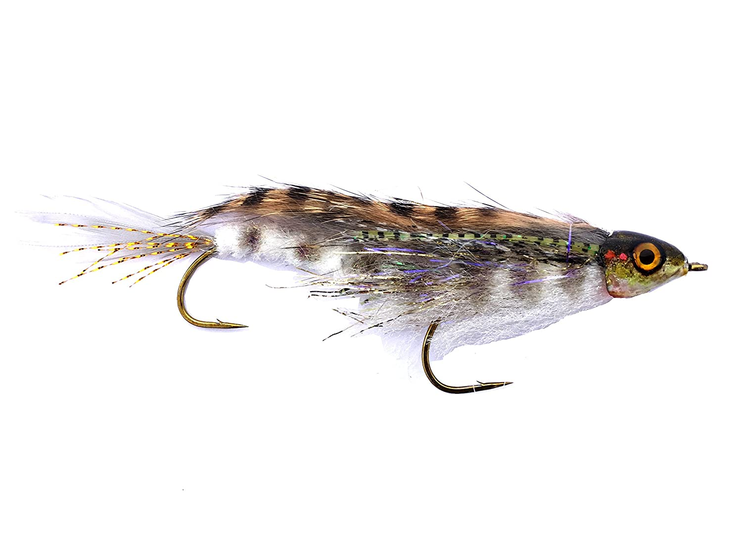 Baby Whitey Streamer Fly for Fly Fishing and Fishing