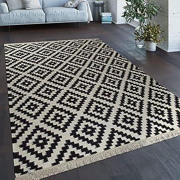 Paco Home Tapis Tissé Main Tendance Moderne Design Marocain Franges ...
